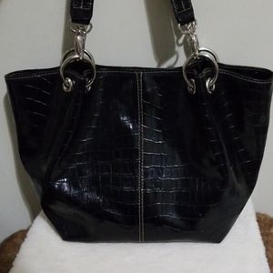 Nine West textured faux leather tote bag